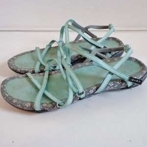 Cute Green Teva Strappy Sandals Size 9